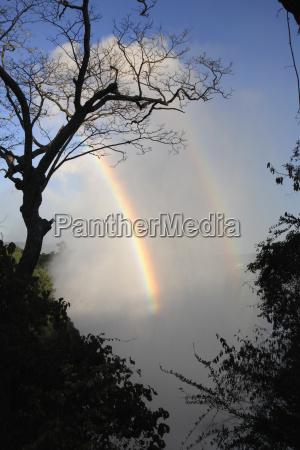 africa zimbabwe victoria falls and rainbow