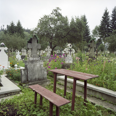romania view of cemetery