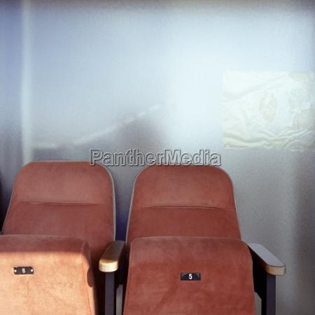 seats in a cinema close up
