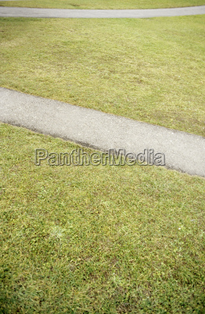 footpath in lawn