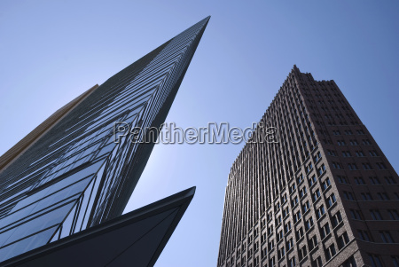 germany berlin potsdamer platz high rises