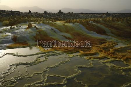 ethiopia danakil desert lake assal saline