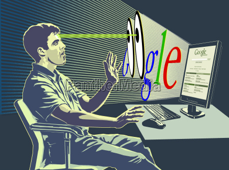man searching google web site