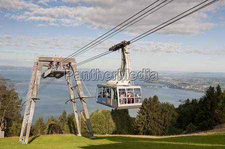austria bregenz view of cable car