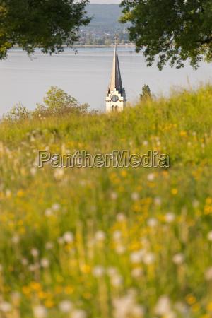 switzerland berlingen view of church with