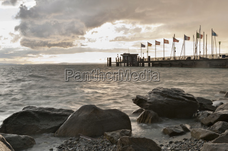 germany nonnenhorn view of jetty with