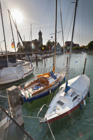 germany wasserburg view of harbour and