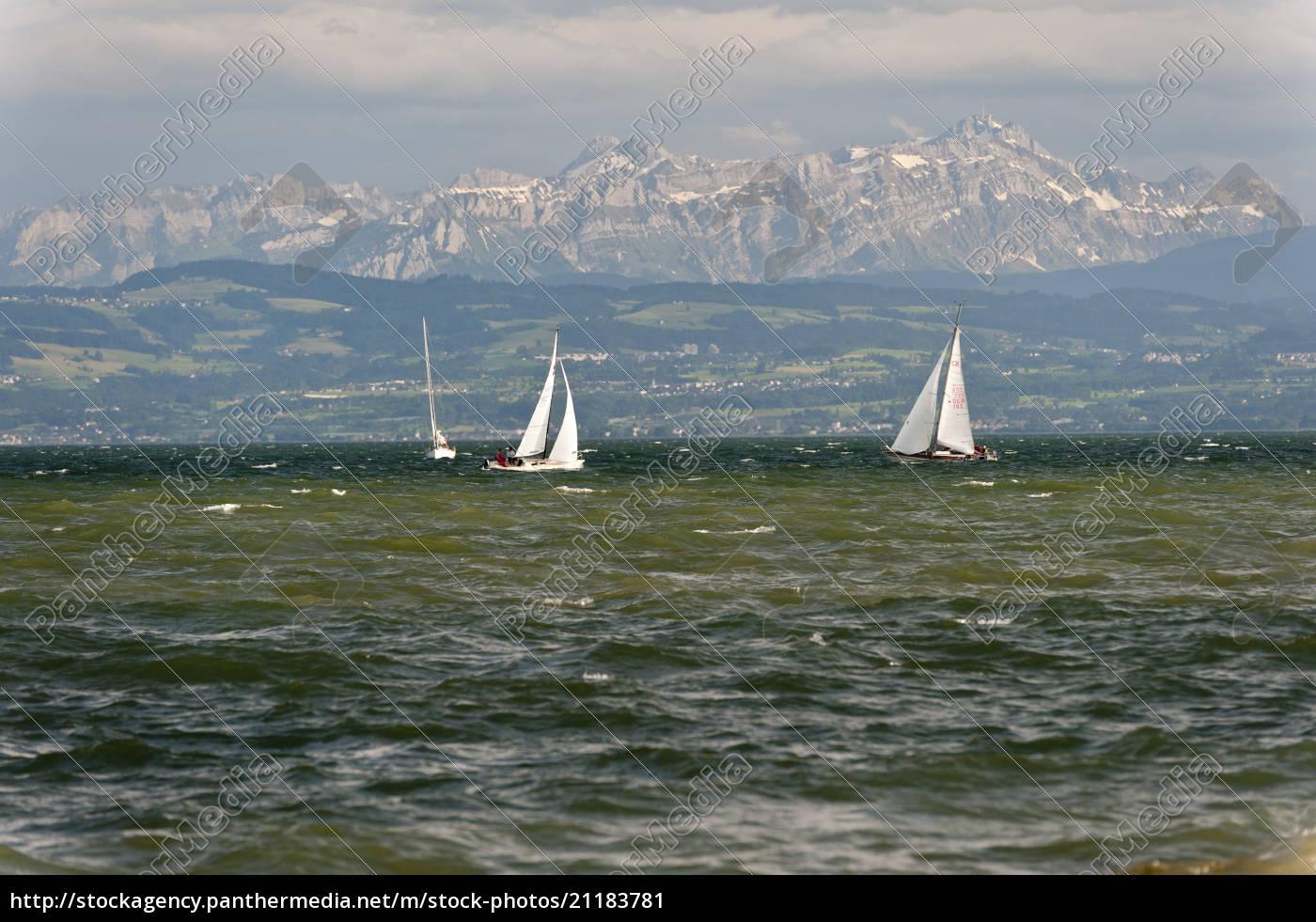 germany, , friedrichshafen, , view, of, sailing, boats - 21183781