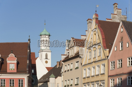 germany bavaria memmingen old town with