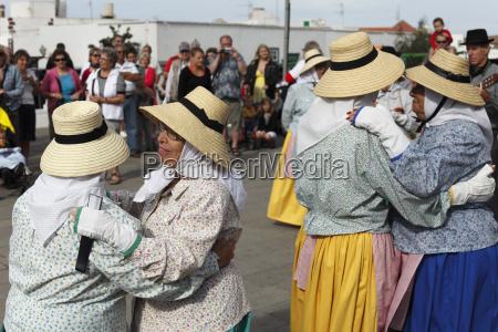 spain canary islands lanzarote traditional folk