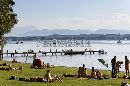 germany upper bavaria muensing tourist by