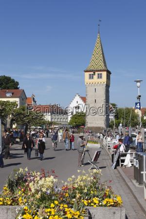 germany bavaria swabia lindau people on