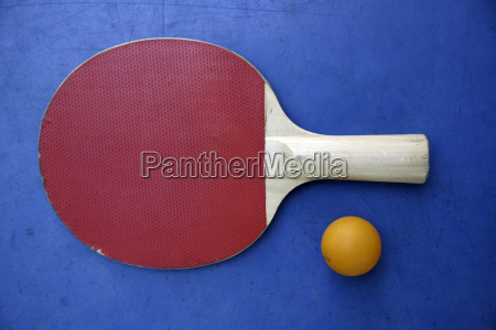 close up of a table tennis