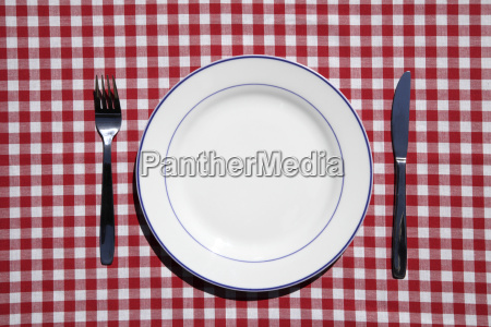 table setting with plate and silverwear