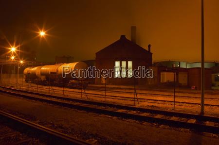germany hamburg petroleum harbour at night