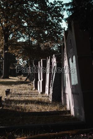 hessen offenbach gravestones at jewish cemetery