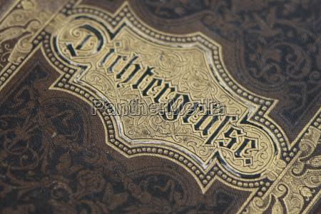 book cover close up