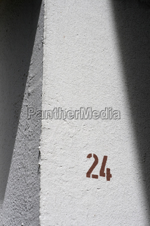 house number 24 close up