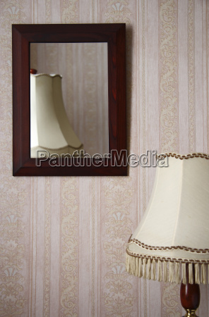 table lamp in front of a
