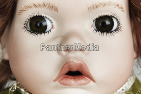 close up of doll face