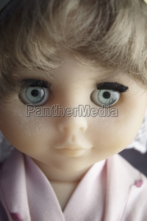 close up of beautiful doll face
