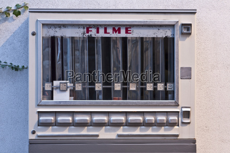 germany old fashioned film automat close