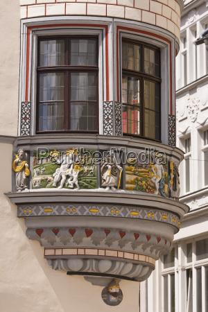 germany thuringia gera view of decorated