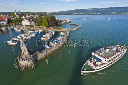 germany bavaria lindau view of port