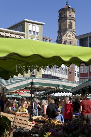 germany baden wuerttemberg stuttgart market place