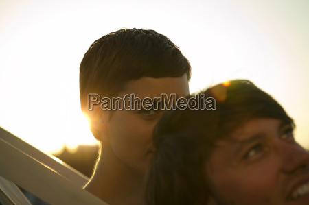 young couple close up