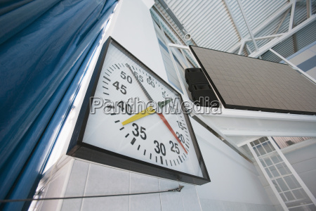 stop watch in sport stadium close
