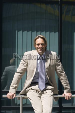 germany baden wuerttemberg stuttgart businessman portrait