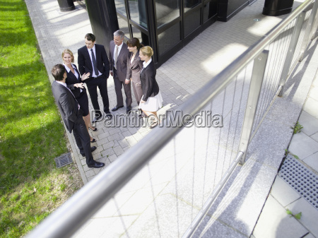germany baden wuerttemberg stuttgart businesspeople talking