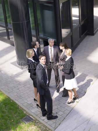 germany baden wuerttemberg stuttgart businesspeople talking