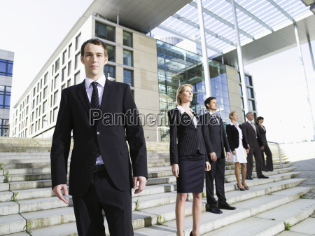 germany baden wuerttemberg stuttgart businesspeople standing