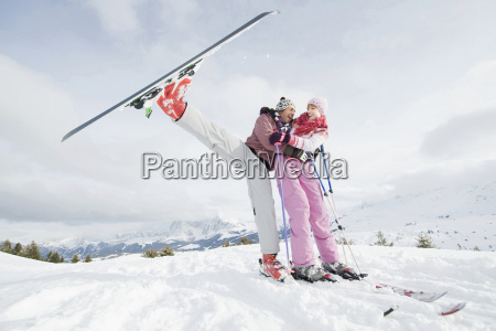 italy south tyrol seiseralm couple standing