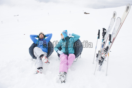 italy south tyrol seiseralm couple relaxing