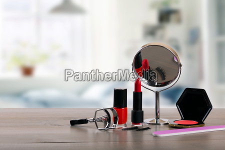 diy makeup accessories on the table