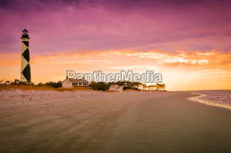 diamond lighthouse at sunset