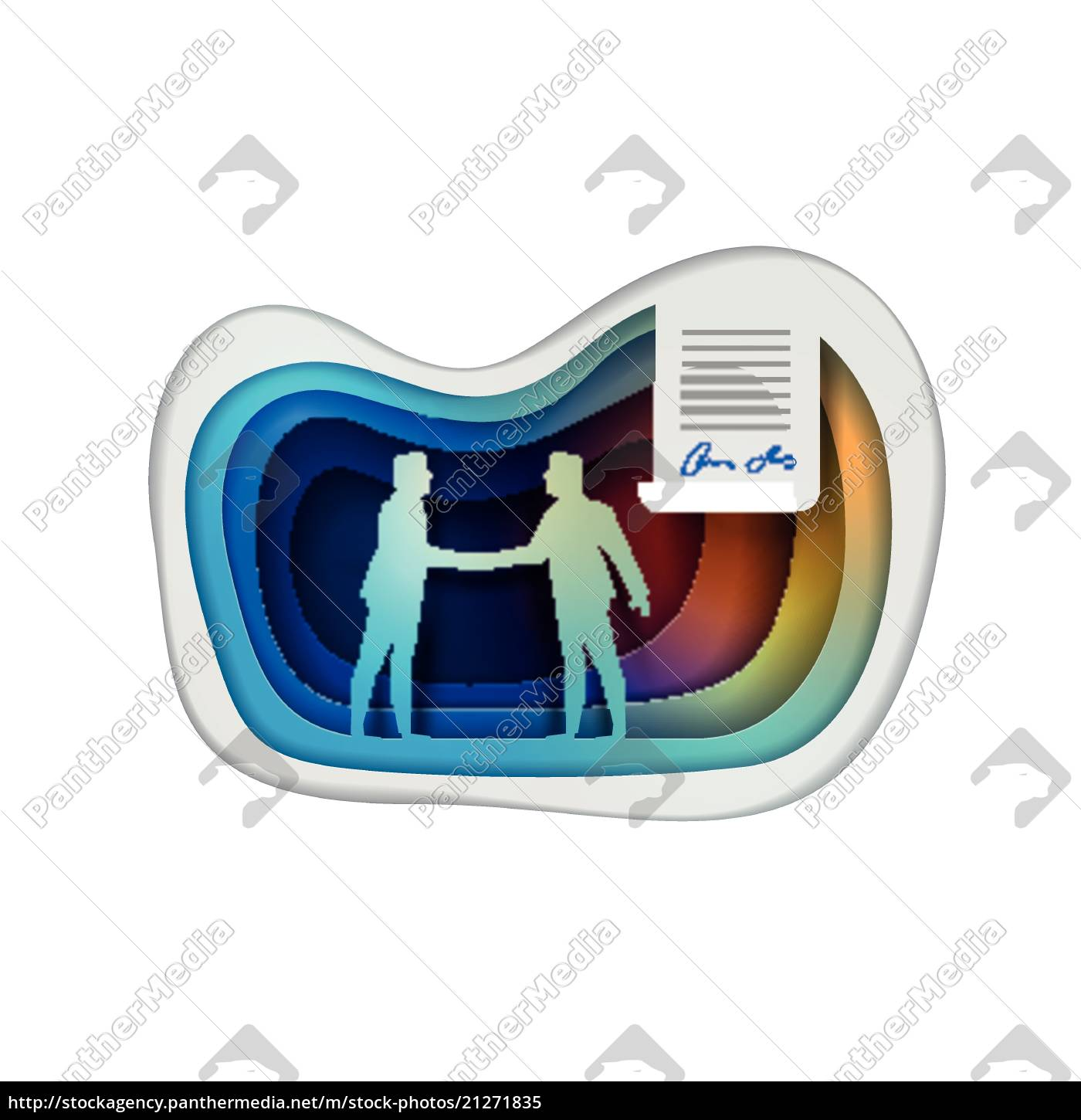 business, agreement, concept, vector, illustration - 21271835