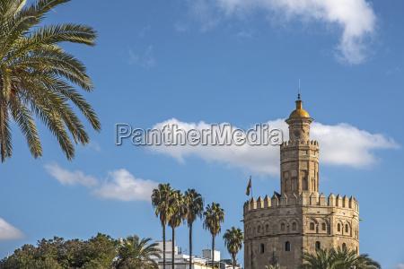 spain seville torre del oro on