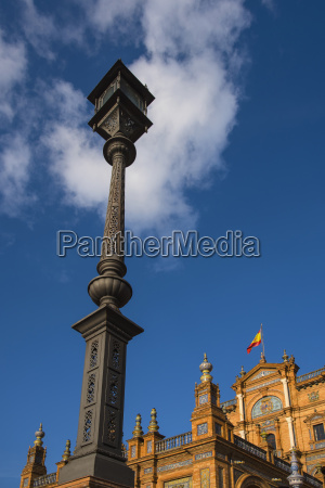 spain seville traditional streetlight at plaza