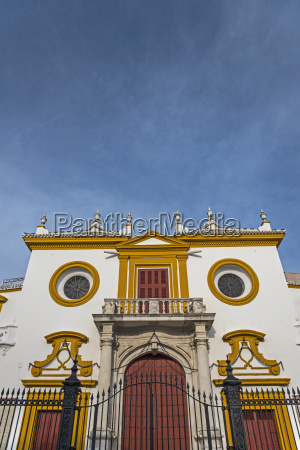 spain andalusia seville facade of plaza
