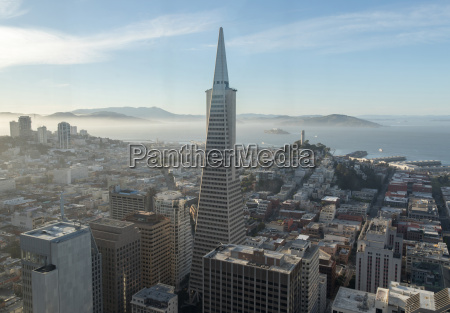 aerial view of san francisco downtown