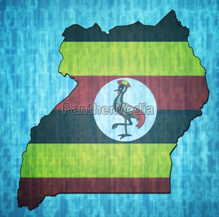 uganda territory with flag