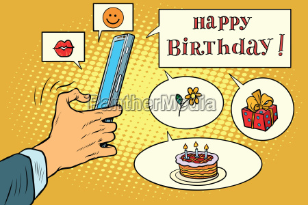 mobile app greetings happy birthday