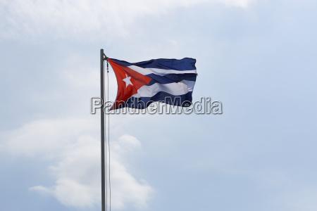 national flag of cuba on a