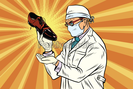 scientist chemist explores shoes