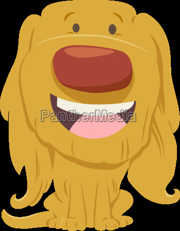 cute dog cartoon character