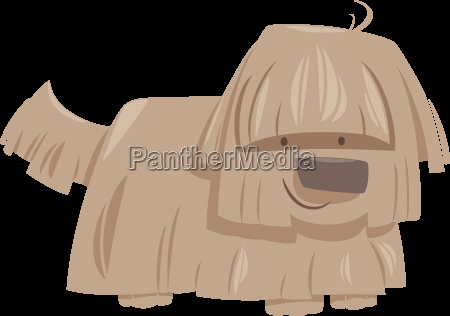 shaggy dog animal character